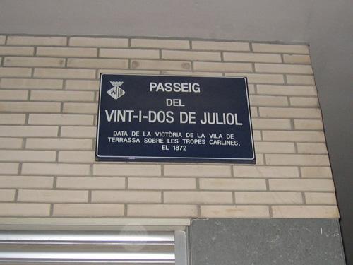 placa de nom de carrer